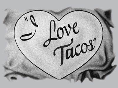 I love Tacos tshirtdesign 2color ilovelucy