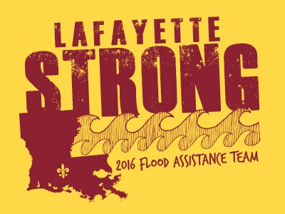 Lafayette Flood Volunteer shirts