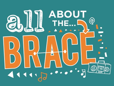 All About the Brace dentistry 2color tshirtdesign