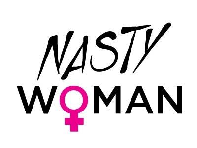 Nasty Woman imwithher humor politics 2colordesign tshirtdesign