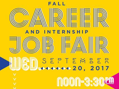 Fall Career & Internship Job Fair posterdesign jobfair collegiatedesign