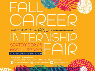 Fall Career & Internship Fair universitydesign university posterdesign poster