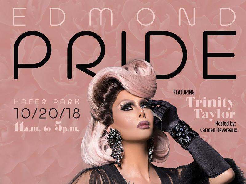 Edmond Pride studentactivities posterdesign rupauldragrace drag equality pride