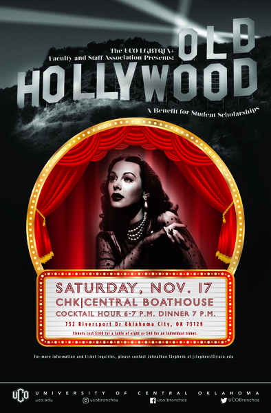 Old Hollywood Poster for fundraiser