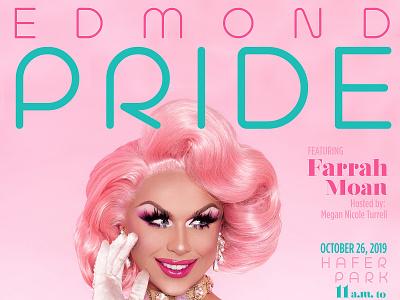 Edmond Pride 2019 design flossy sassy pink dragposter poster drag