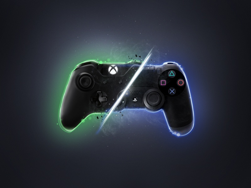 Xbox vs ps4 by manoel oliveira dribbble dribbble - High resolution playstation logo ...