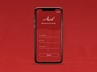 """Daily UI 001 """"Sign Up"""""""