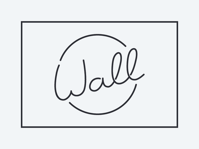 Wall custom lettering wall last name typography script