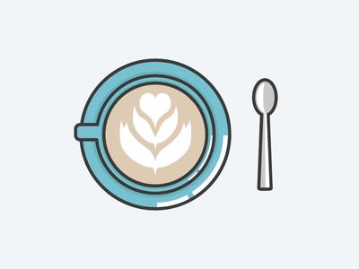 Cappuccino cup saucer spoon cafe cappuccino art espresso and milk
