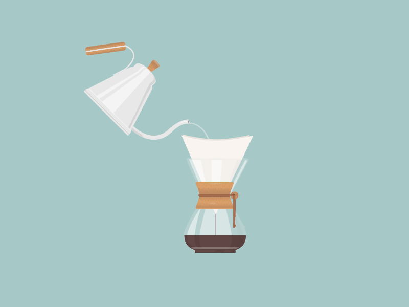 Attempt coffee kettle chemex pour over hobby glass filter water