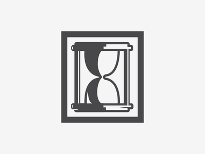 Hourglass time thick lines lines thick shadows hourglass