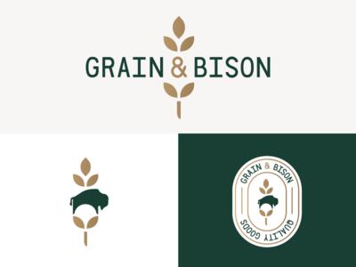 Grain & Bison logo