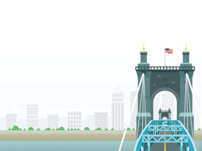Cincinnati water bridge ohio cincinnati