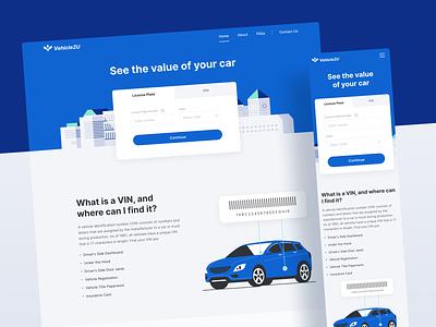 Vehicle Valuation Web App software development app development app design application web app automotive automobile vehicle userinterface mobile app graphic design app ux design ui