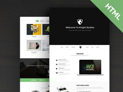 Knight - Free Bootstrap Theme web html bootstrap free
