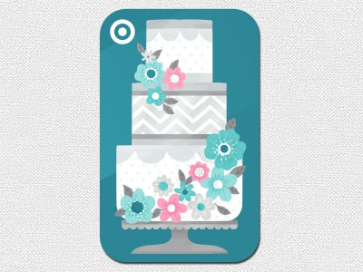 Target Gift Card wedding gift card design illustration cake art direction floral