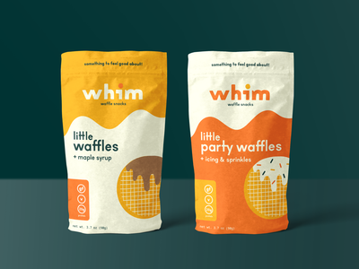 Whim Packaging mockup sprinkles icing party maple syrup design bag branding waffles packaging