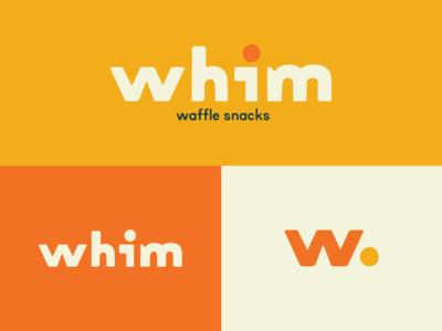 Whim Logos snack waffle icon logo design branding