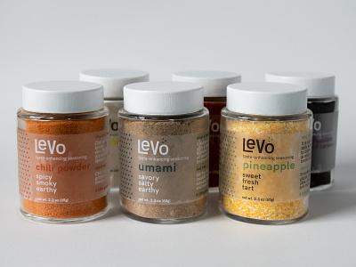 Levo Seasoning Packaging umami smell taste spice seasoning packaging logo label jar design branding anosmia