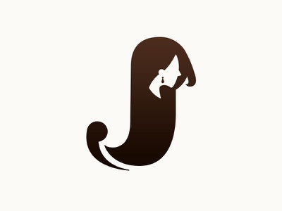 """J"" logo idea pictgram woman logo lady hair design"
