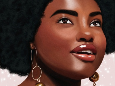 Black Power Girl photoshop drawing digital illustration digitalart illustration
