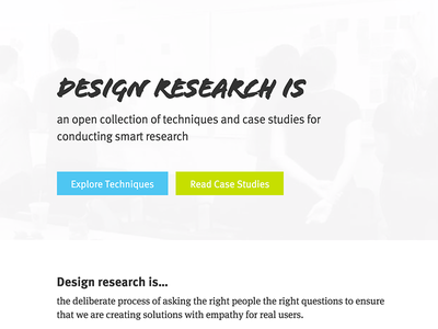 Homepage for Design Research Is header homepage research design