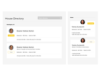 Responsive Card UI for OpenCongress