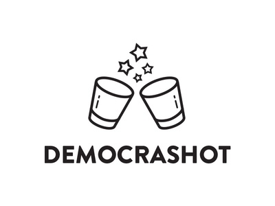 Democrashot hackday america shotglass drinking political logo