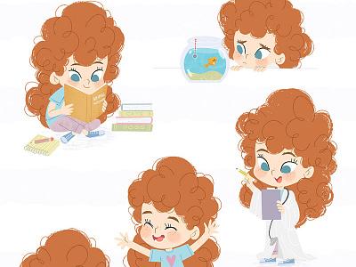 Chloe - character design kidlitart illustration digital illustration childrens book cute illustration children book illustration character design