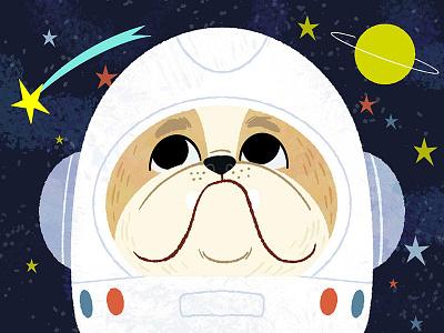 Looking to the stars! dog art photoshop character design animals kidlitart illustration digital illustration cute illustration childrens book children book illustration