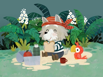 Lunch break pirates dog art character design animals kidlitart illustration digital illustration cute illustration childrens book children book illustration