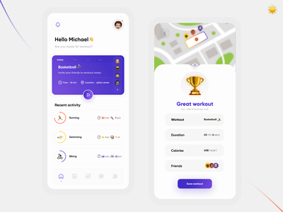 workout app exercise app exercises vector concept 3d visual design ux mobile ui ui mobile app design app uiux design workout tracker workout app workout