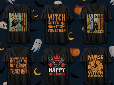 Halloween T-shirt Design Bundle t-shirt t-shirt design boo gost pumkin halloween t-shirt design halloween