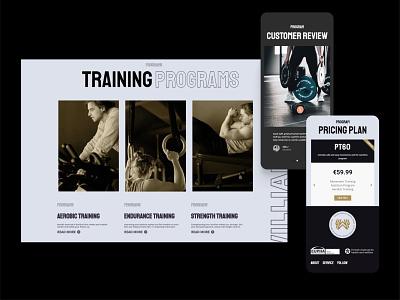 Personal trainer website design wordpress layout design ui layout logo webdesign web typography flat vector minimal design branding