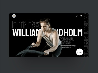 Personal trainer website design fitness sports wordpress layout design ui layout webdesign web typography flat vector minimal design branding