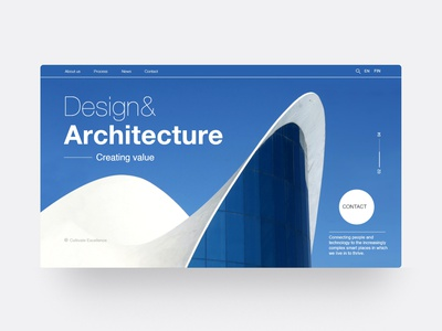 Web design concept for an architecture company typography modern design modern layout design flat minimal ui web layout design webdesign