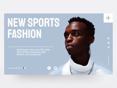 Web concept for new sports fashion urban trendy cool lifestyle fashion sports design layout design ui web layout webdesign minimal