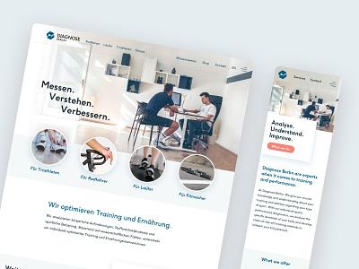 Diagnose Berlin - Responsive Website Design typography graphic design branding design front-end responsive web design