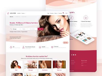 LuxFox — Beauty & WellnessIdentity + Web/Apps beauty app beauty salon wellness beauty fashion typography design responsive graphic design web design brand identity identity brand design branding