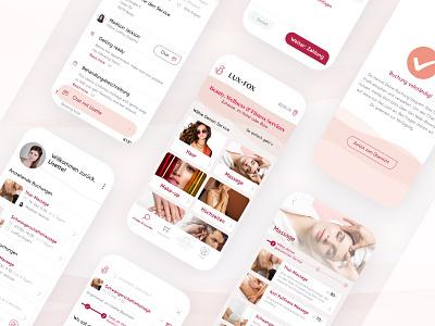 LuxFox — Beauty & WellnessIdentity + Web/Apps icon typography web design design branding responsive ui ux ux design ui design app design