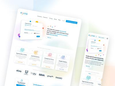 Poltio —Landing Page & Identity icon logo minimal typography front-end branding responsive ui design web design