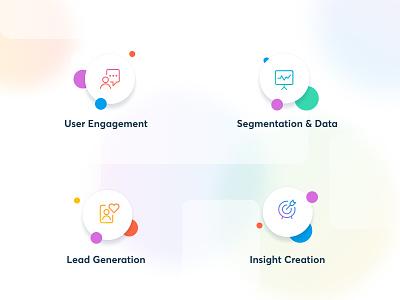 Poltio — Landing Page & Identity colourful ux icon vector logo illustration branding design web design iconography