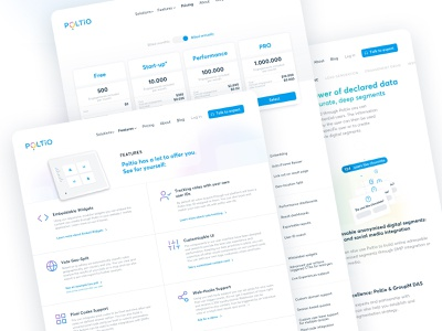 Poltio — Landing Page & Identity web minimal ux typography front-end branding ui design responsive web design