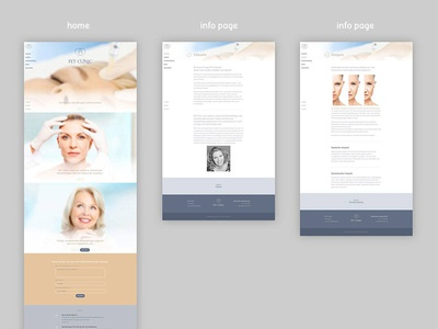 Feyclinic beauty clinic responsive graphic design front-end web design