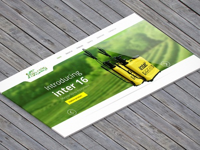 Insecticide website re-design in progress nature web insecticide spray green white yellow isometric