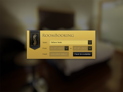 Room Booking room booking reservation hotel gold black check ui web
