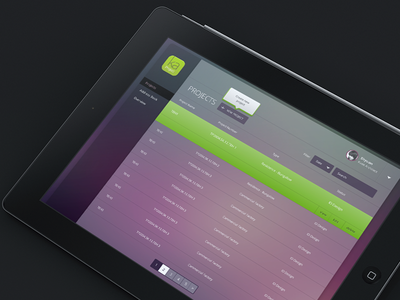 Simple Backend backend dashboard blur background ui transparency ios