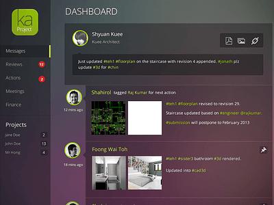 Dark Admin Dashboard  dashboard ui dark purple purple green