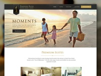 Hotel web layout design - rejected