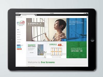 Evascreen E-Commerce Website Design e-commerce website multi columns